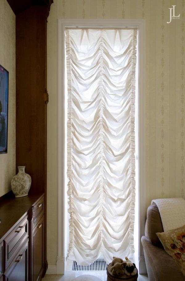 Длинные французские шторы