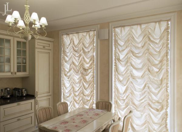 Французские шторы на кухню