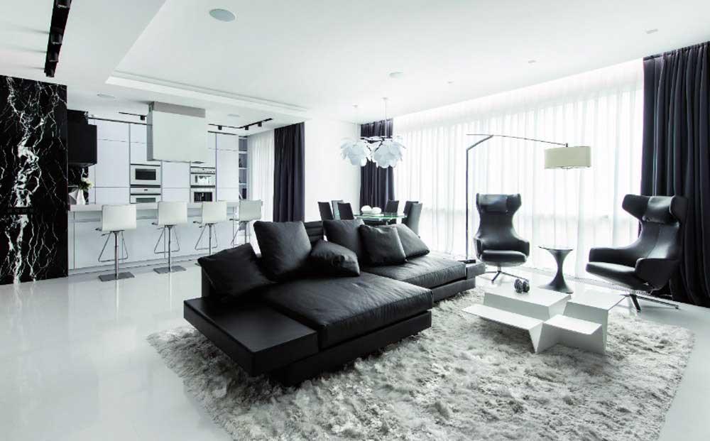 Шторы в современной гостиной