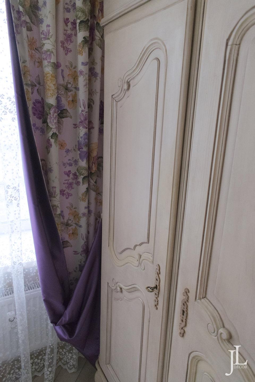 Феолетовые шторы