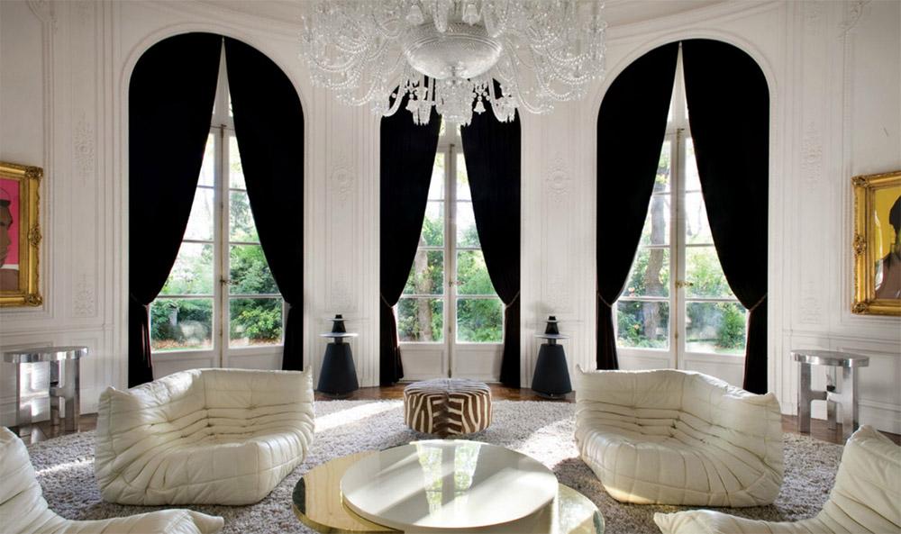 Чёрные шторы нео-классика.