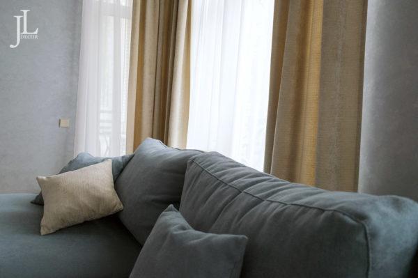 Дизайн штор для гостиной в СПб.