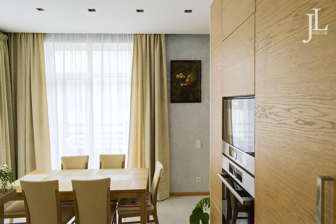 Дизайн штор для современной кухни.