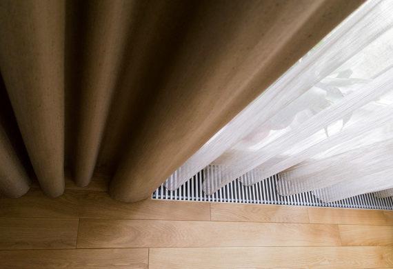 Длинные шторы.