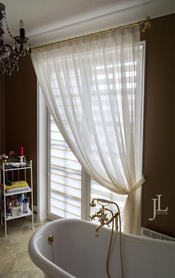 дизайн штор для ванной в частном доме