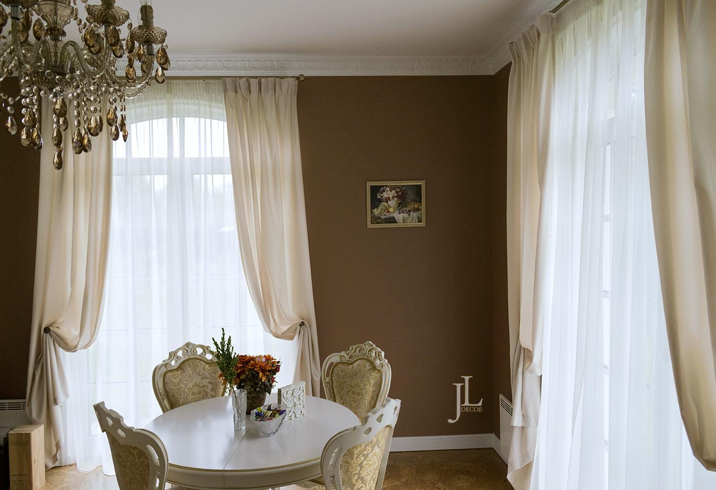 дизайн штор для кухни в частном доме