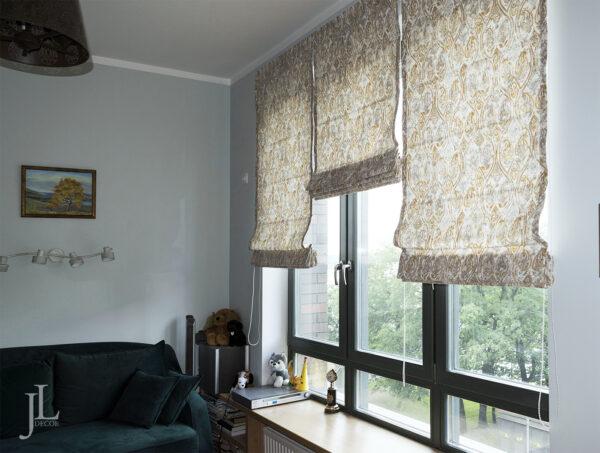 Римские шторы в современном интерьере