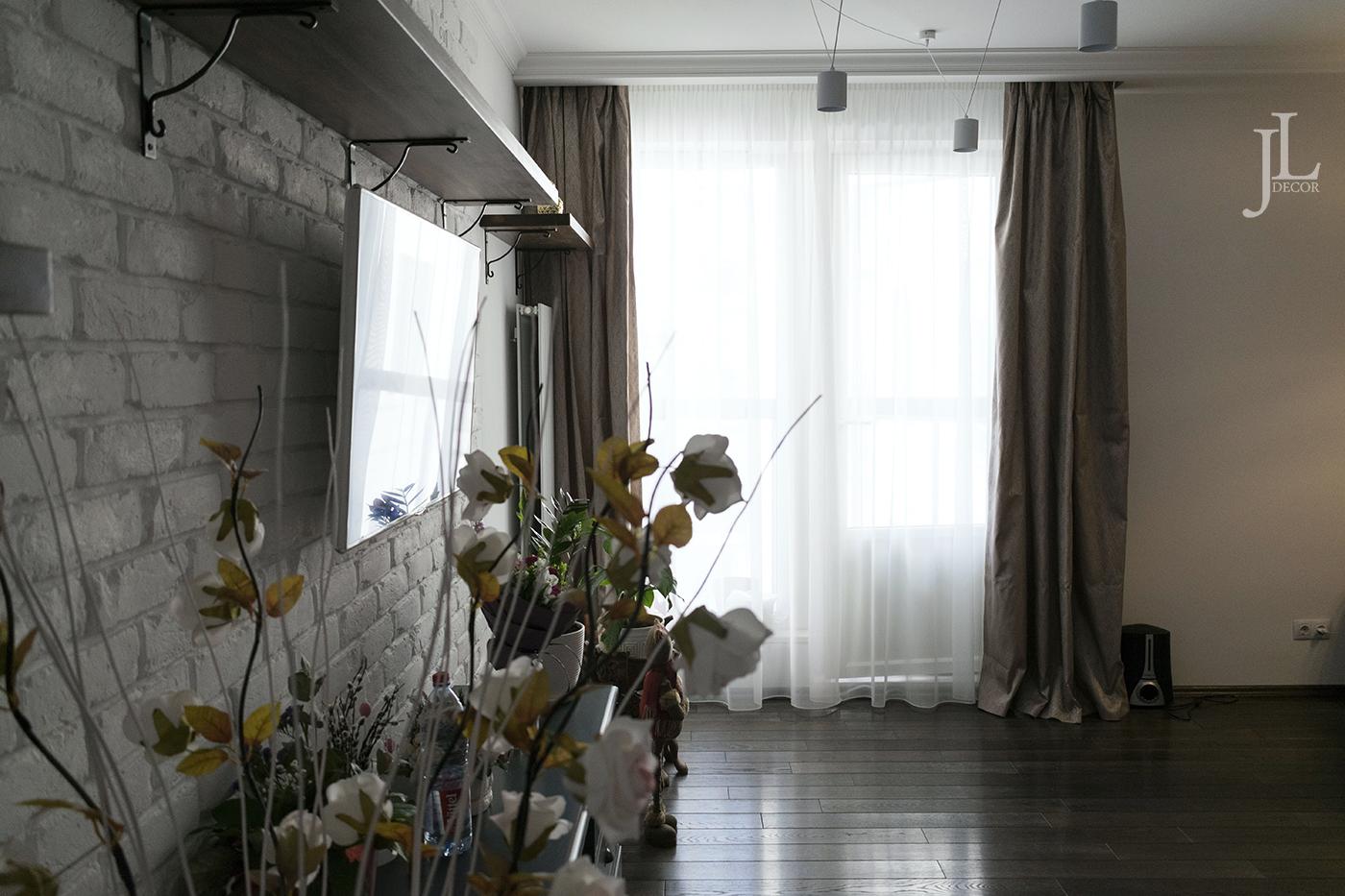 Красивые шторы в современном интерьере.