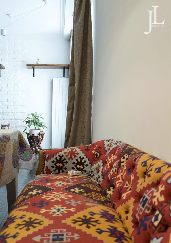 Красивые шторы в интерьере квартиры.