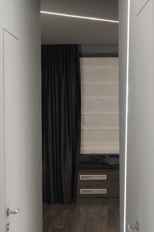 Чёрные шторы в современном интерьере • jl-decor.com