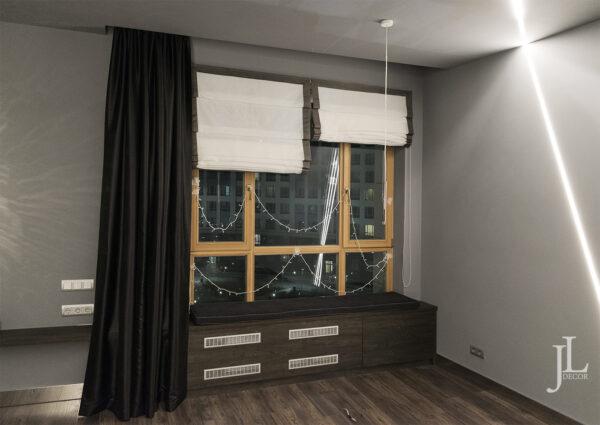 Чёрные шторы в современном интерьере • jl-decor